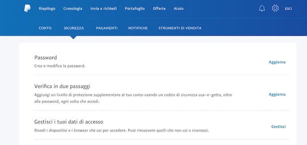 Come cambiare password PayPal da computer