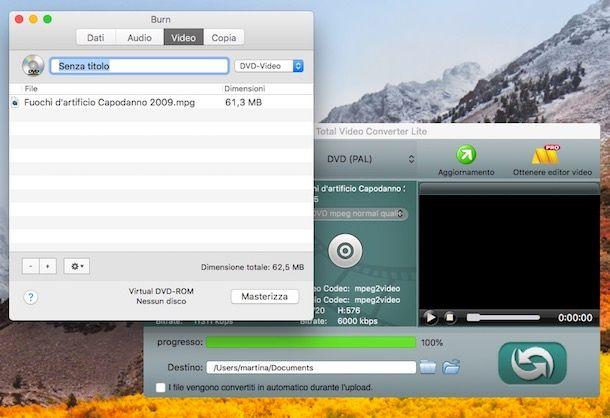 Come masterizzare DVD Mac