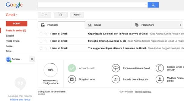 Come creare email Gmail