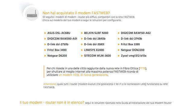 Come configurare modem Fastweb