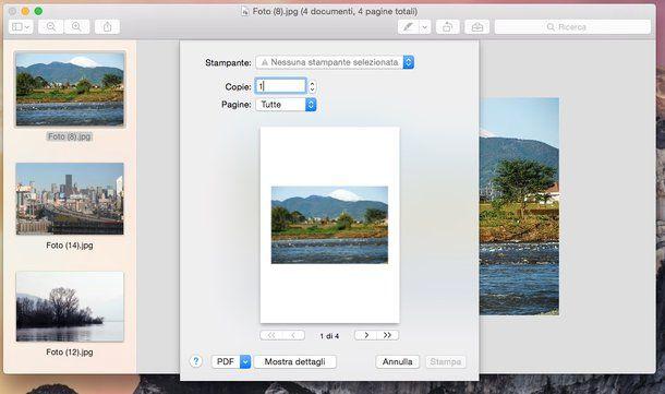 Come convertire foto in PDF