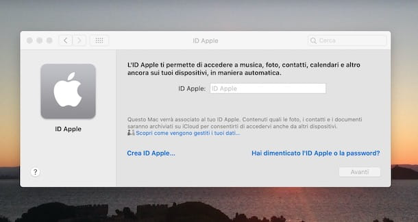 Creare account Apple da Mac