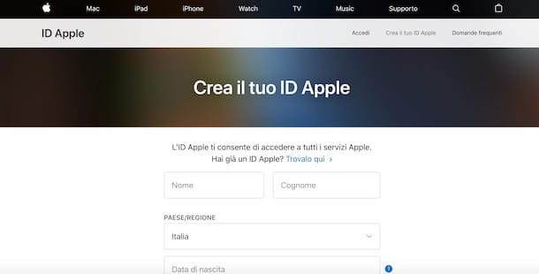 Come creare un account Apple da PC