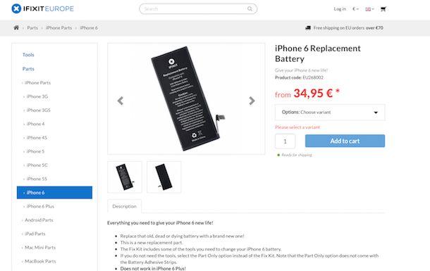 Come cambiare batteria iPhone