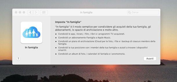 Configurare In Famiglia di Apple