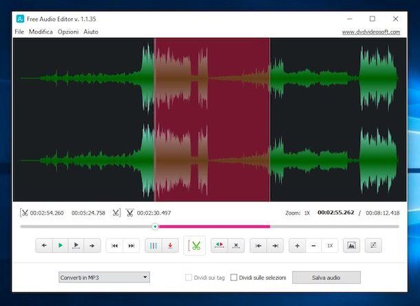 Come tagliare file audio