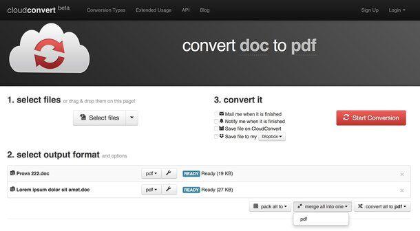 Come convertire file DOC in PDF