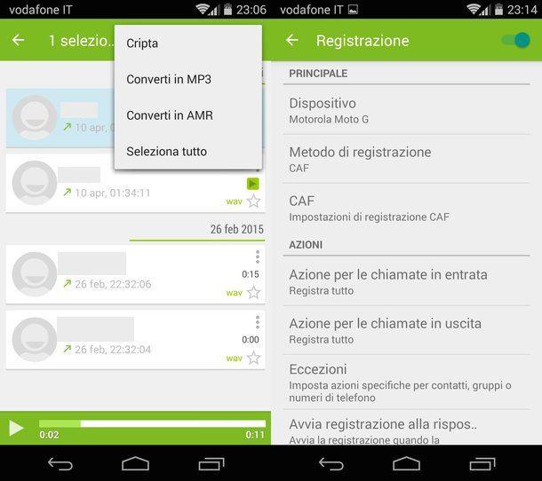 Come registrare telefonate Android
