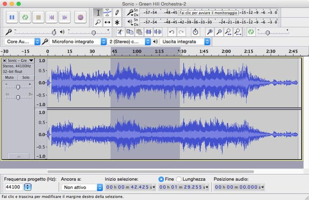 Come tagliare file audio