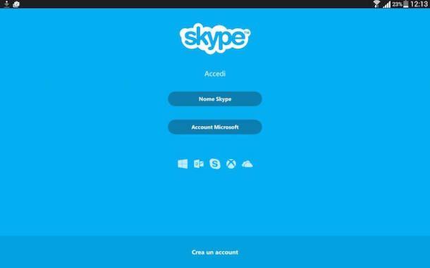 Screenshot che mostra come scaricare Skype per Android