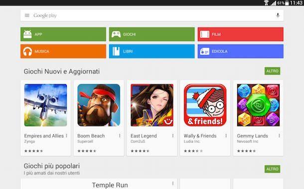 Screenshot che mostra come scaricare app gratis su Android