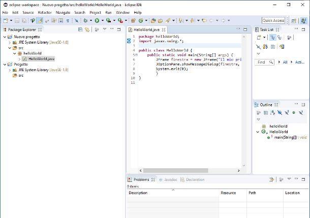 Come programare in Java con Eclipse