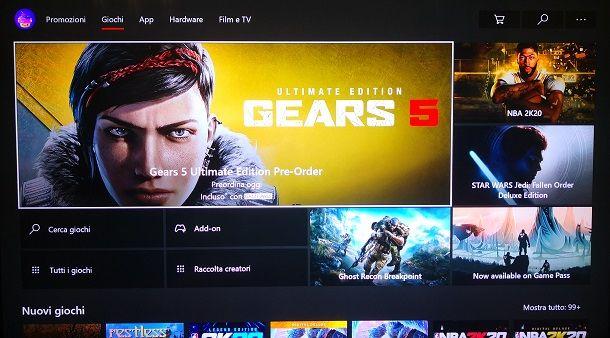 Acquistare il gioco nello Xbox Store