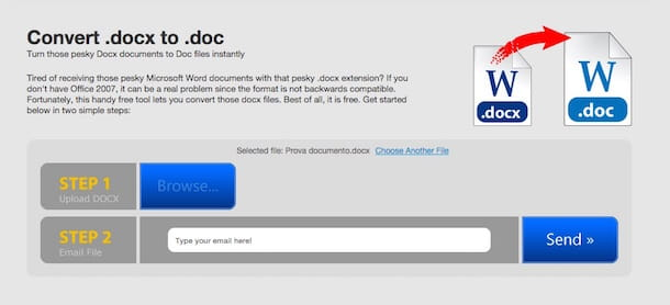 Screenshot di Convert docx to doc