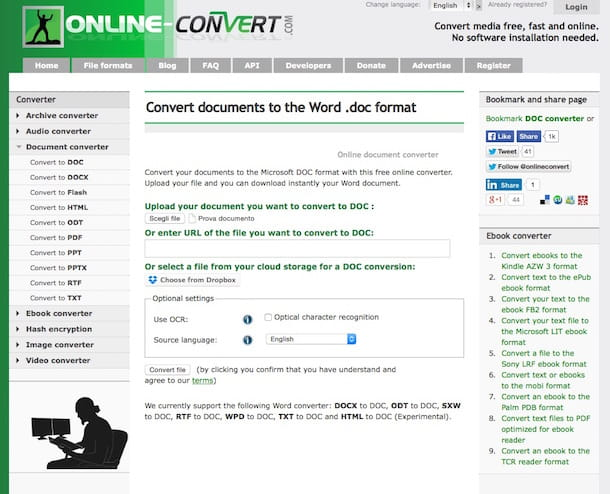 Screenshot di Online Converter