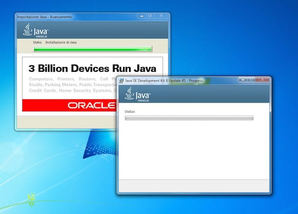 Screenshot che mostra come programmare in Java
