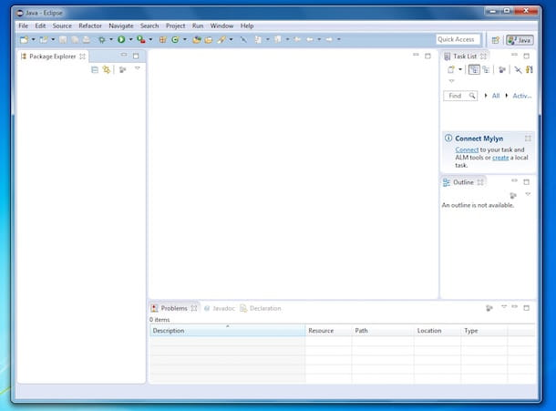 Screenshot di Eclipse IDE