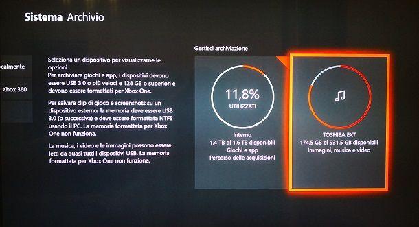 Scaricare giochi Xbox One su hard disk