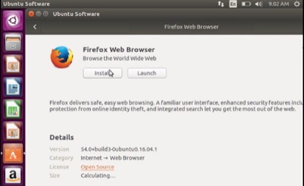 Firefox per Ubuntu