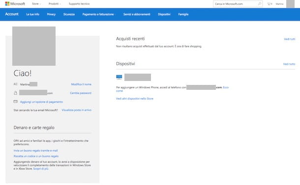 Come cambiare password Hotmail