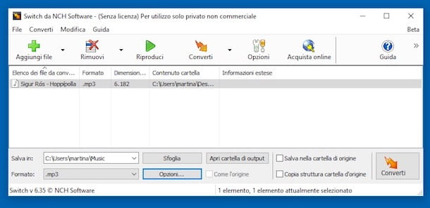 Come convertire file audio