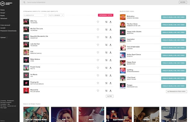 siti per scaricare musica gratis per mac
