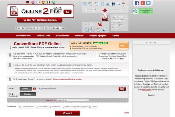 Come convertire DOC in PDF
