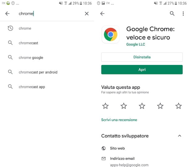 Chrome Play Store Android