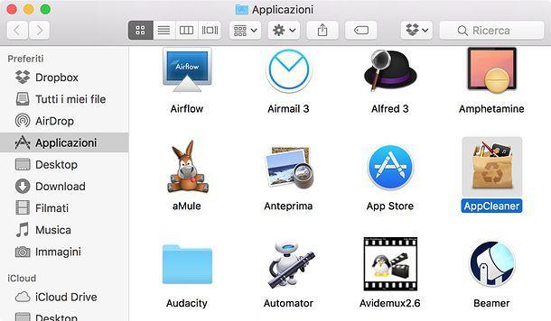 Come disinstallare applicazioni Mac