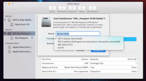 come usare hard disk esterno su mac e windows