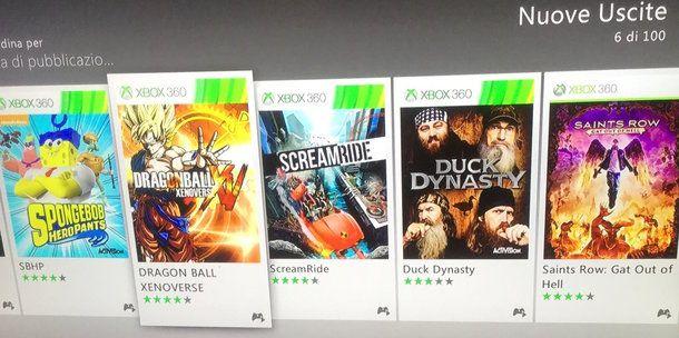Acquistare un gioco su Xbox 360