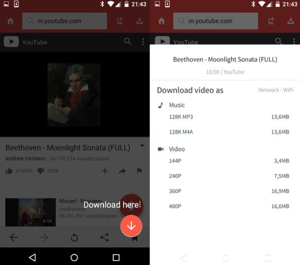 Come scaricare MP3 da YouTube Android