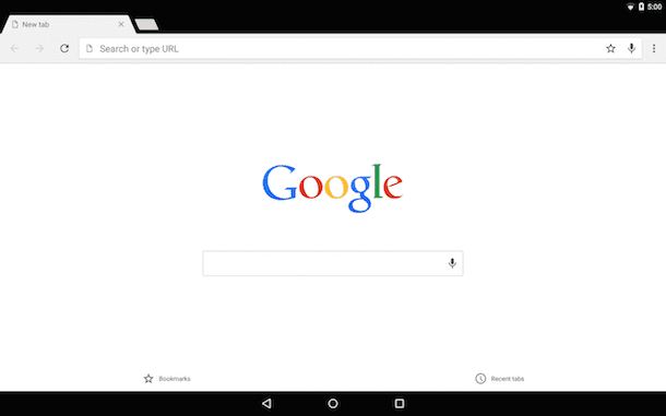 Screenshot che mostra come scaricare Chrome su Android