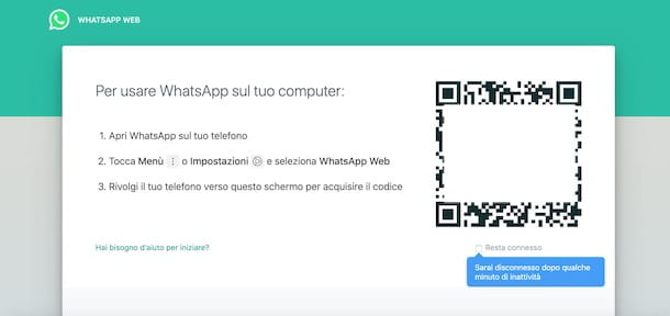 Accedere a WhatsApp Web