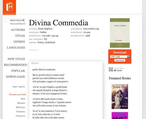 Screenshot che mostra come scaricare PDF gratis