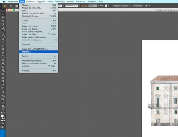 Screenshot che mostra come trasformare PDF in DWG