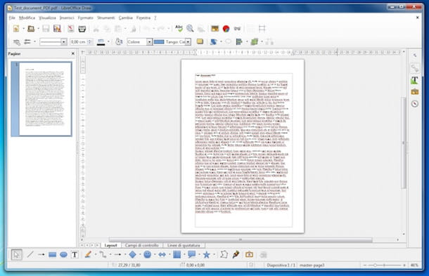 Screenshot che mostra come modificare documento PDF