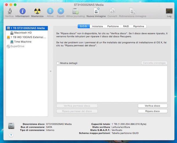 Screenshot che mostra come riparare hard disk