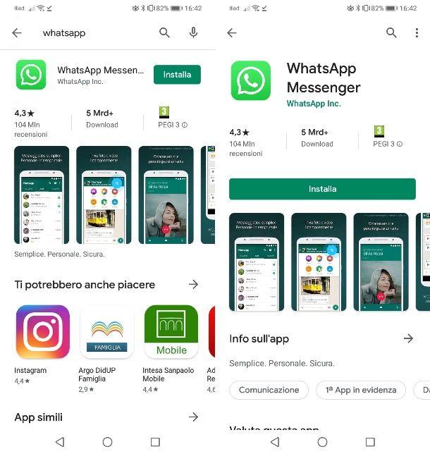 Scaricare WhatsApp su Android