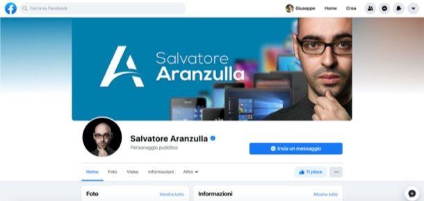 Pagina di Salvatore Aranzulla