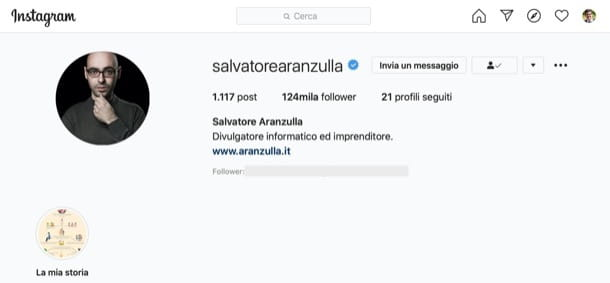 Account Instagram di Salvatore Aranzulla