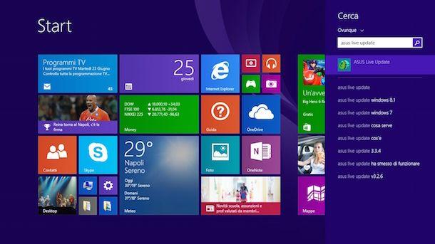 Screenshot che mostra come aggiornare BIOS Asus