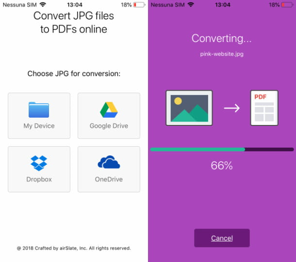 Trasformare foto in PDF con AltoPDF