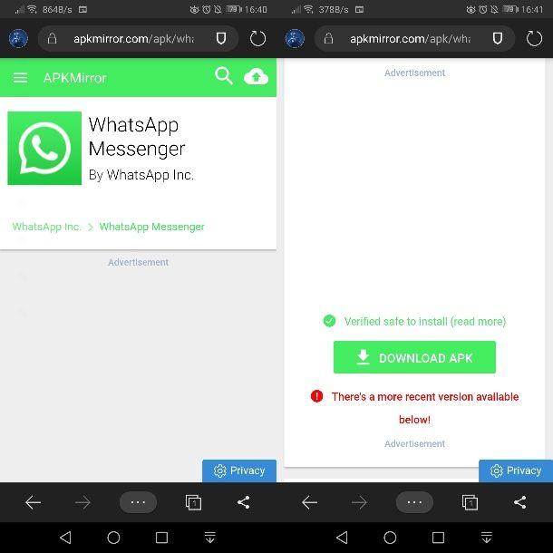 WhatsApp su APKMirror