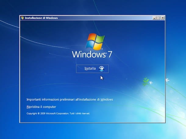 Screenshot che mostra come fare per formattare PC Windows 7