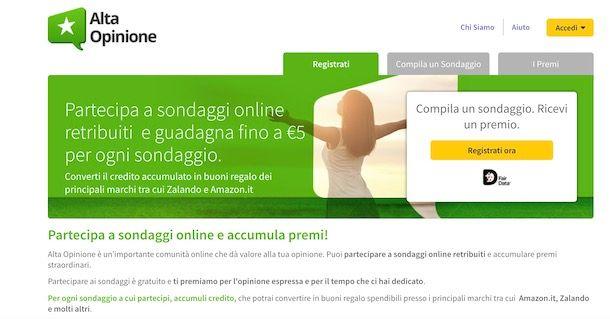 guadagnare facendo sondaggi online)