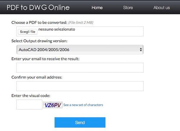 Come trasformare PDF in DWG