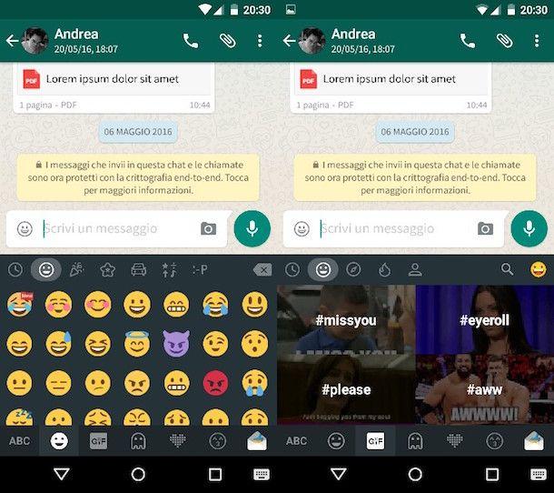 Come aggiungere emoticon WhatsApp