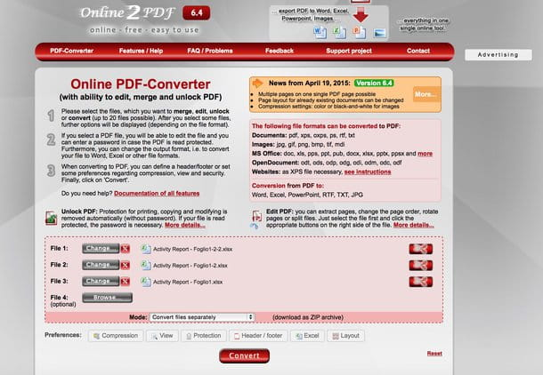 ilovepdf convert excel to pdf