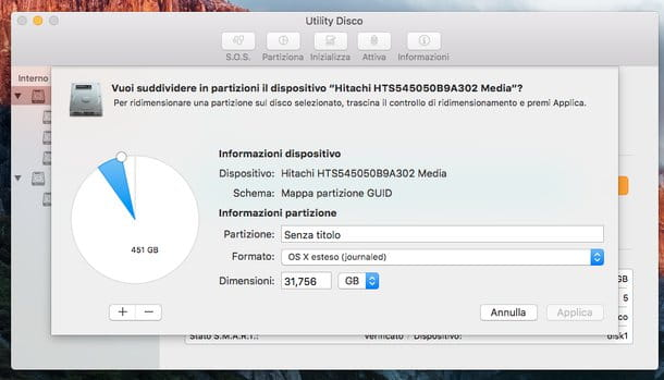 Come formattare hard disk esterno Mac